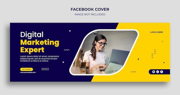 Facebook-cover und web-banner-vorlage der unternehmensagentur