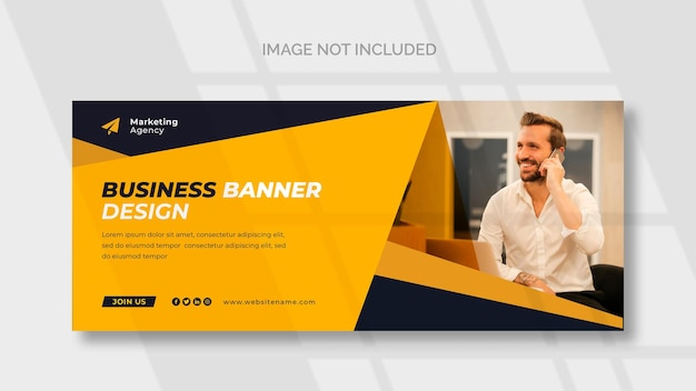 Facebook-cover- und webbanner-vorlage für möbel