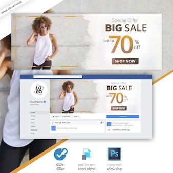 Facebook-cover-verkauf social media web banner