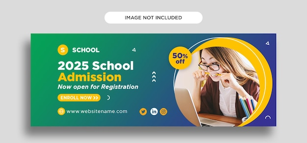 Facebook-cover-vorlage für die schule