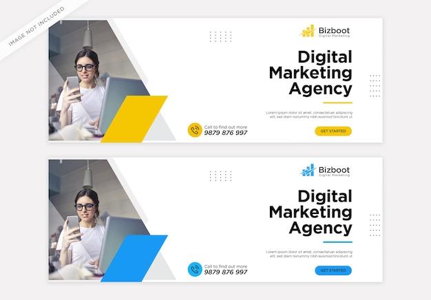 Facebook-cover-vorlage für digitale geschäftsmarketing-werbung