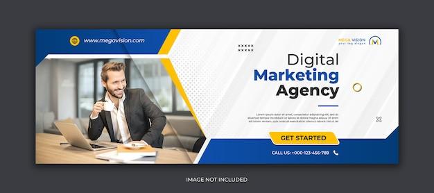 Facebook-cover-vorlage für digitales marketing für soziale medien von unternehmen