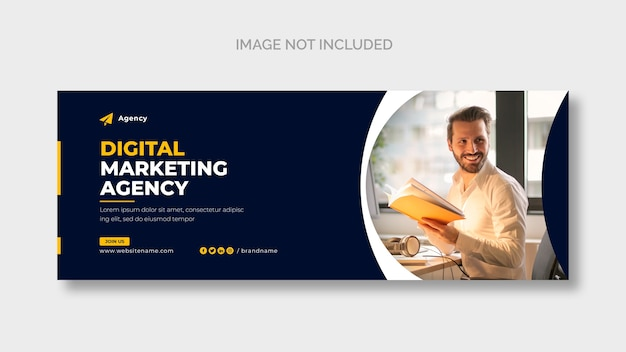 Facebook-cover-vorlage für digitales marketingunternehmen