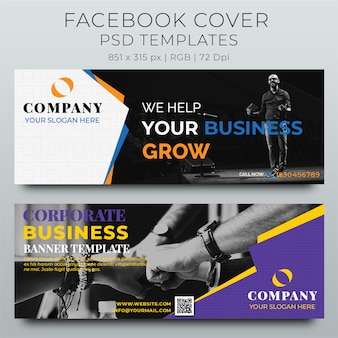 Facebook cover web-banner social media designvorlage