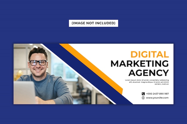 Facebook-deckblattvorlage der digital marketing agency