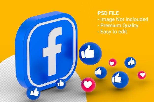 Facebook-symbol und facebook-reaktionsdesign