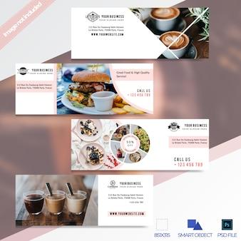 Facebook-timeline-cover-banner für super sale-restaurants