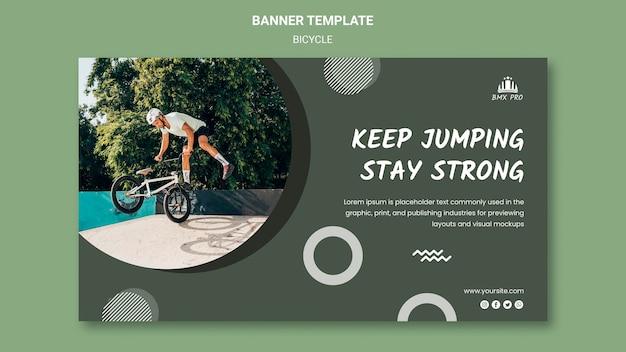 Fahrrad banner vorlage thema