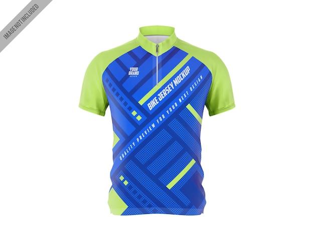 Fahrrad jersey t-shirt mockup vorlage