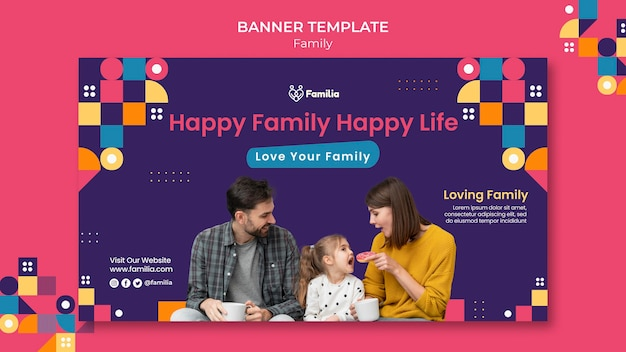 Familieninspirierte bannervorlage