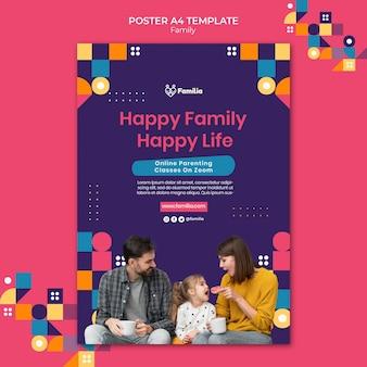 Familieninspirierte postervorlage