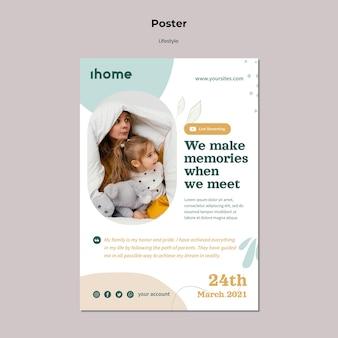 Familienlebensstil-plakatvorlage