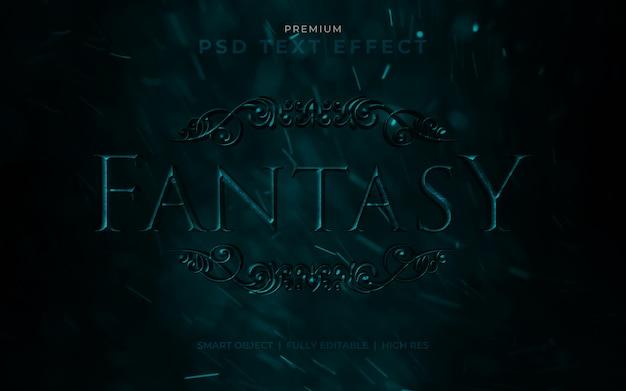 Fantasy psd texteffekt modell