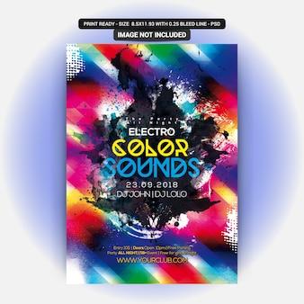 Farbe klingt party flyer