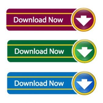 Farbigen download-buttons psd