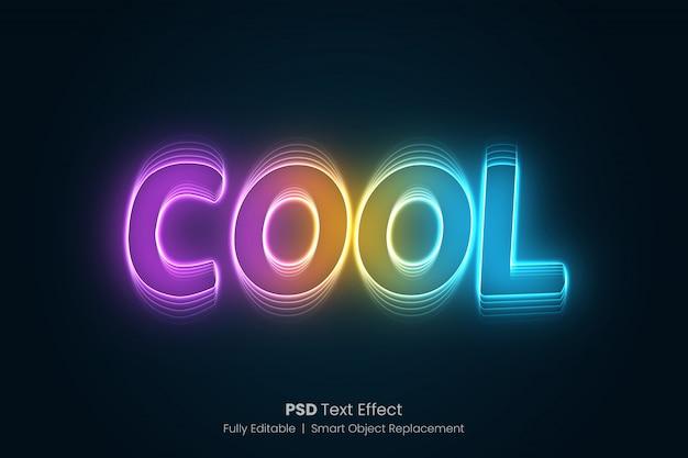 Farbiger glühender texteffekt