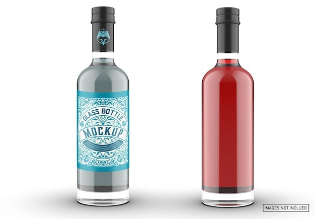Farbiges gin-flaschen-verpackungsmodell
