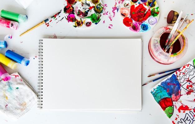 Farbmalerei ist eine kunst, farbe zu mischen