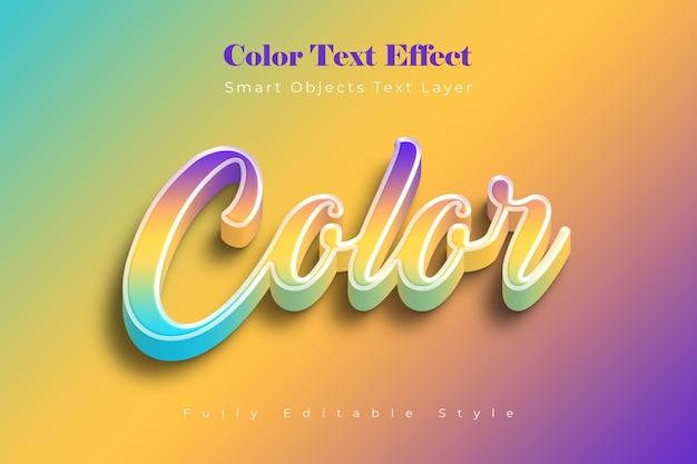 Farbtexteffektvorlage