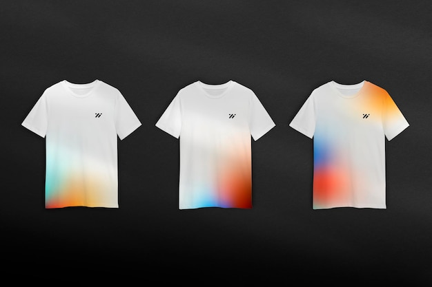 Farbverlauf t-shirt mockup psd im minimalistischen stil