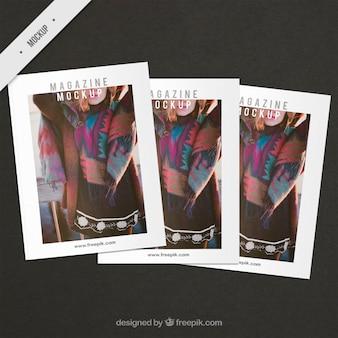Fashion abdeckung magazin mockups