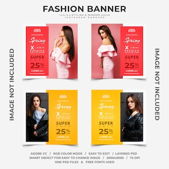Fashion event rabatte instagram banner