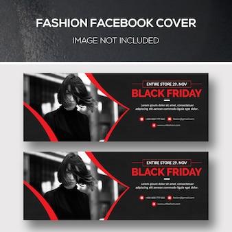 Fashion facebook cover für black friday