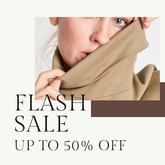Fashion flash sale template psd für social media post