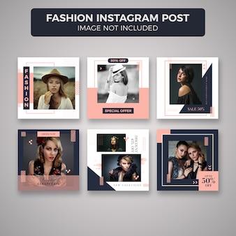 Fashion instagram post template-sammlung