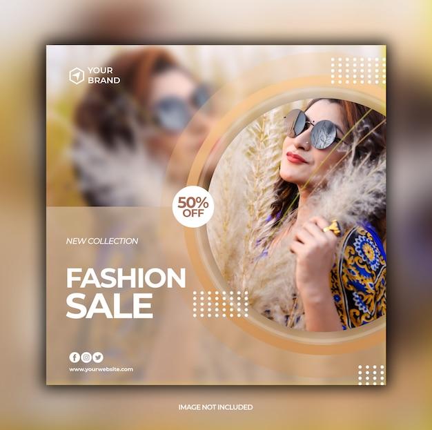 Fashion sale banner für social media post vorlage