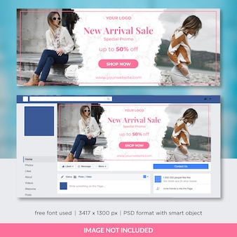 Fashion sale facebook cover oder header template design