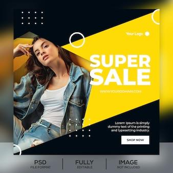 Fashion sale instagram post vorlage