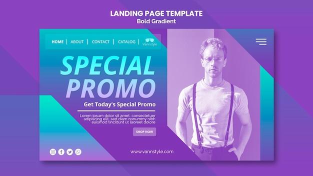 Fashion sale landing page design