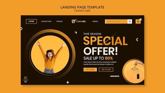 Fashion sale landing page vorlage Kostenlosen PSD