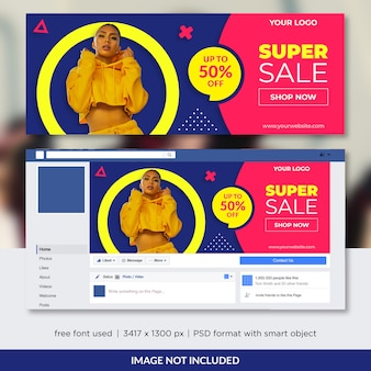 Fashion sale promo für facebook cover