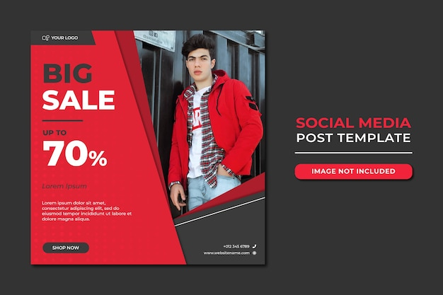 Fashion sale social media beitragsvorlage
