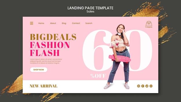 Fashion sales landing page vorlage