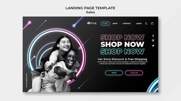 Fashion sales landing page vorlage