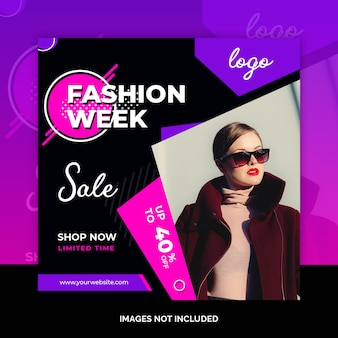 Fashion social media beitragsdesign