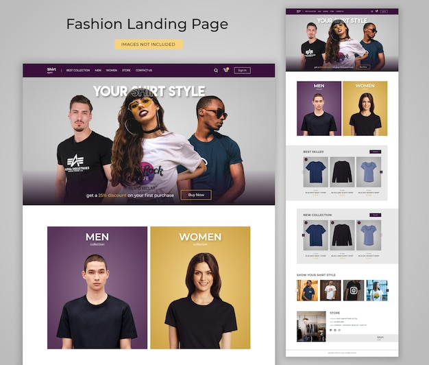 Fashion website landing page