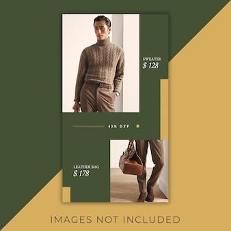 Fashioninstagram banner geschichten minimalistisch und elegant