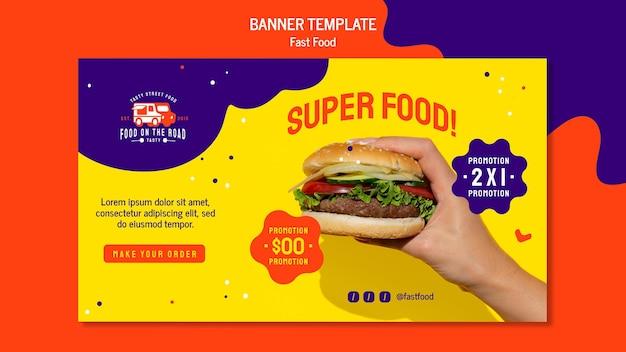 Fast-food-banner-vorlage
