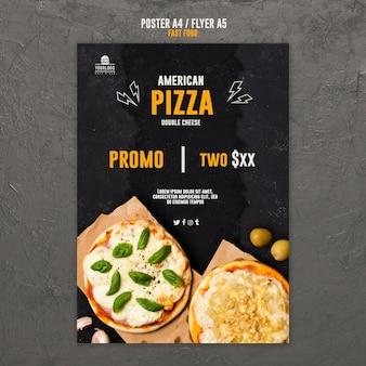 Fast-food-konzept flyer design
