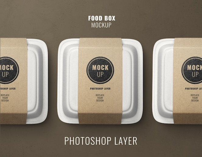 Fast-food-lieferboxen modell
