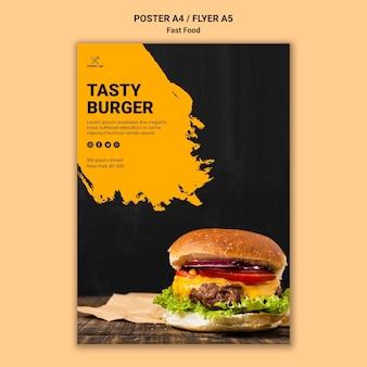Fast-food-poster-vorlage