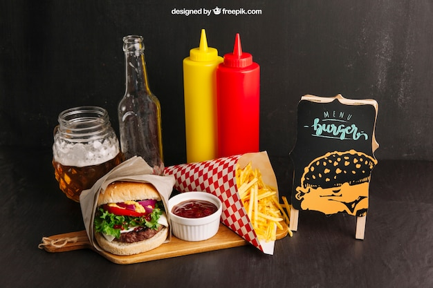 Fast-food-restaurant-modell