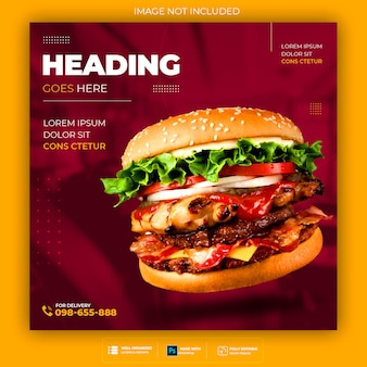 Fast food social media banner vorlage