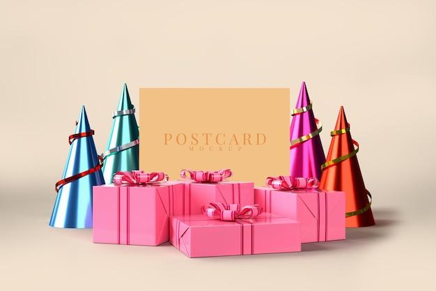Feier party mit geschenkbox dekorationen