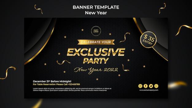 Feierliche bannervorlage für das neue jahr
