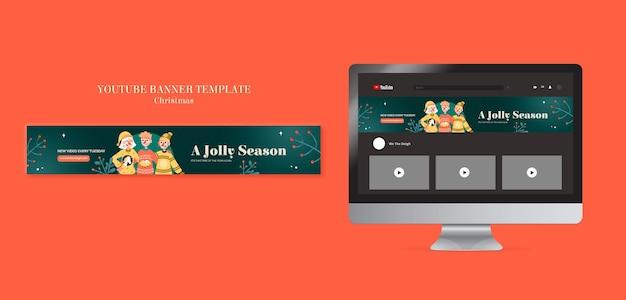 Feierliche pullover-saison-youtube-banner-vorlage